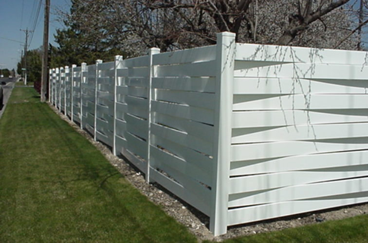 AFC Iowa City, Vinyl Fencing, Basket Weave 750