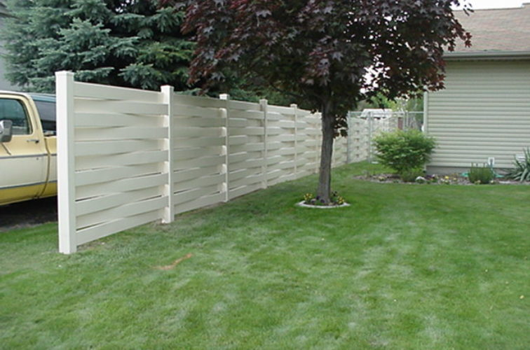 AFC Iowa City, Vinyl Fencing, Basket Weave 751