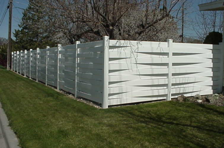 AFC Iowa City, Vinyl Fencing, Basket Weave 752