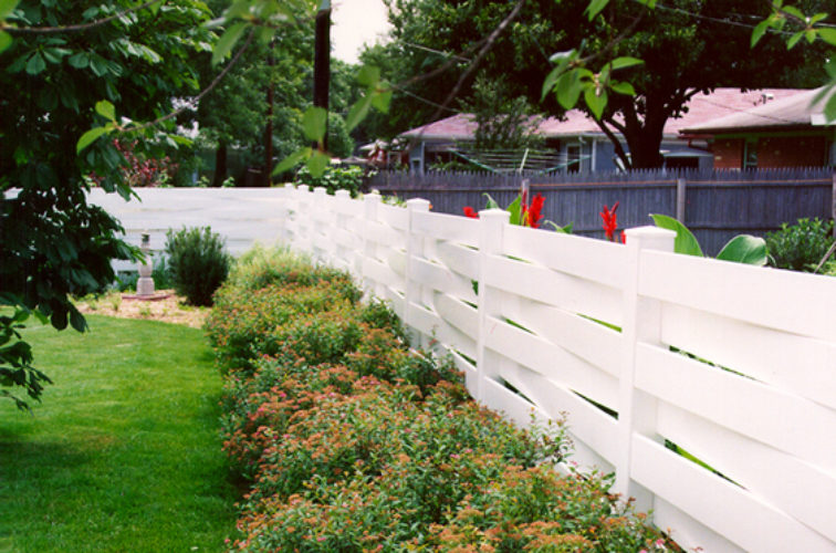 AFC Iowa City, Vinyl Fencing, Basket Weave 753