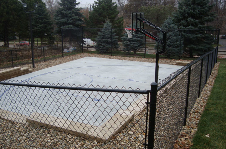 AFC Iowa City - Sports Fencing, Black Vinyl Chain Link Sport Court AFC, SD