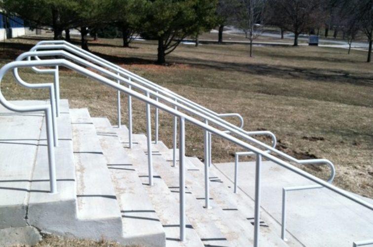 AFC Iowa City - Custom Railing, Custom Galvanized Handrail 4 - AFC - IA