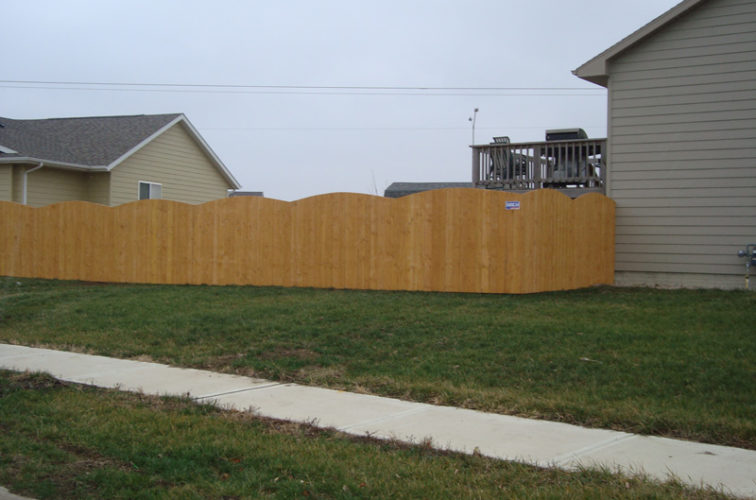 AFC Iowa City - Wood Fencing, Cedar Privacy Over Scallop AFC, SD