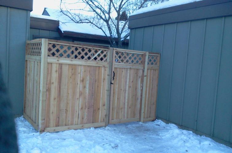 AFC Iowa City - Wood Fencing, Custom Wood Privacy with Lattice AFC, SD