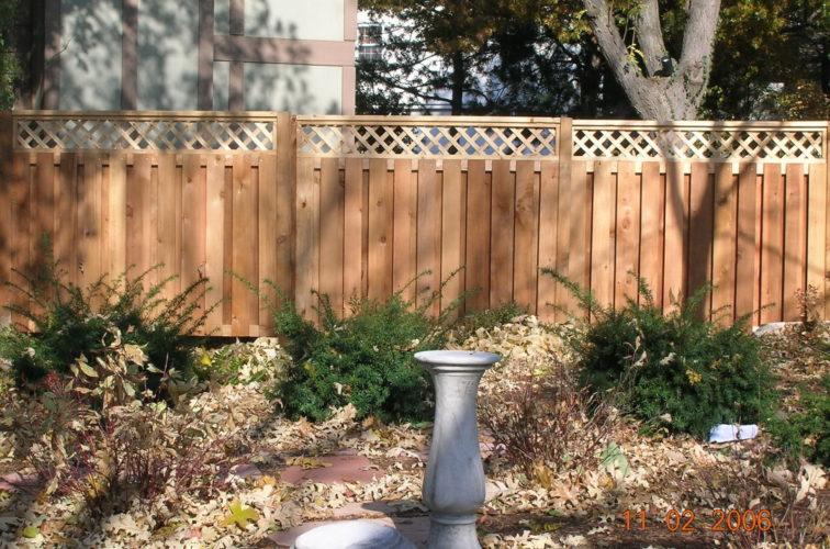 AFC Iowa City - Wood Fencing, Custom with lattice