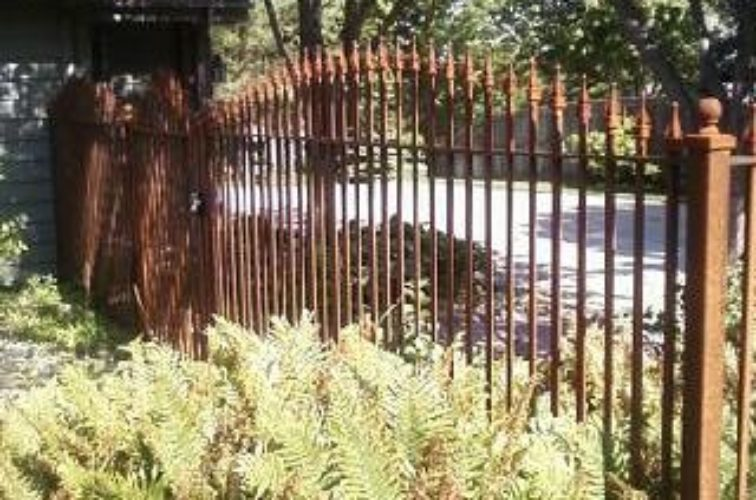 AFC Iowa City - Custom Iron Gate Fencing, Customer Rusted Wrought Iron AFC, SD