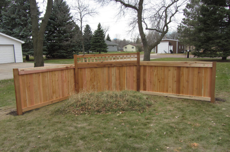 AFC Iowa City - Wood Fencing, Decorative Cedar Privacy with Picket Accent AFC, SD