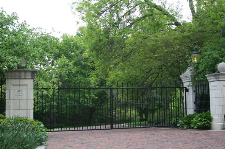 AFC Iowa City - Custom Gates, Estate Straight Double Drive Gate