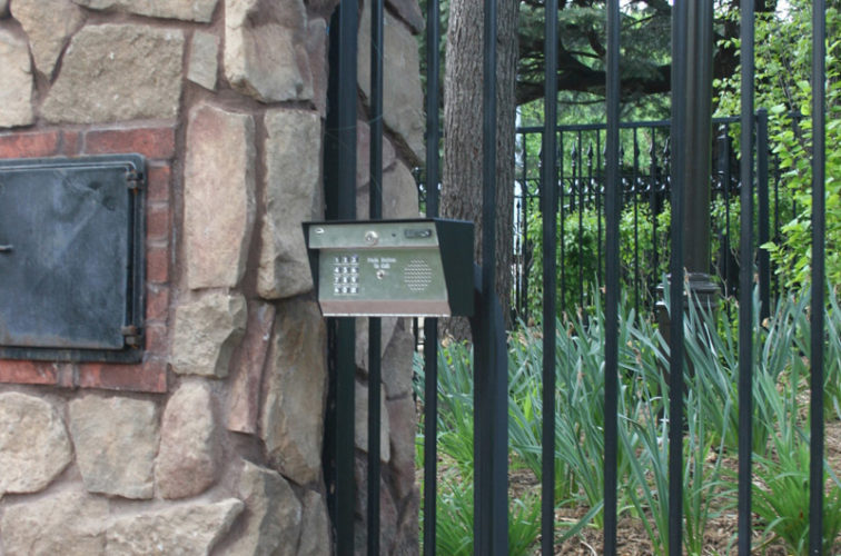 AFC Iowa City - Custom Gates, Estate Telephone Entry, Column and Postal Box