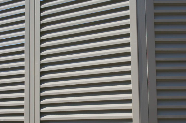 AFC Iowa City - Louvered Fence Systems Fencing, Louvered Fence Panel Angled Post Connection