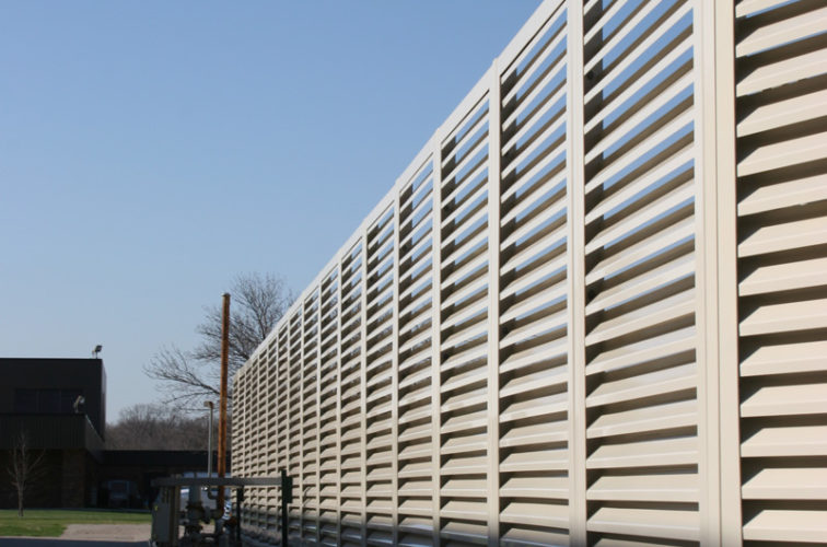 AFC Iowa City - Louvered Fence Systems Fencing, Louvered Fence Panel Top Cap