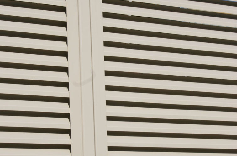 AFC Iowa City - Louvered Fence Systems Fencing, Louvered Fence Post
