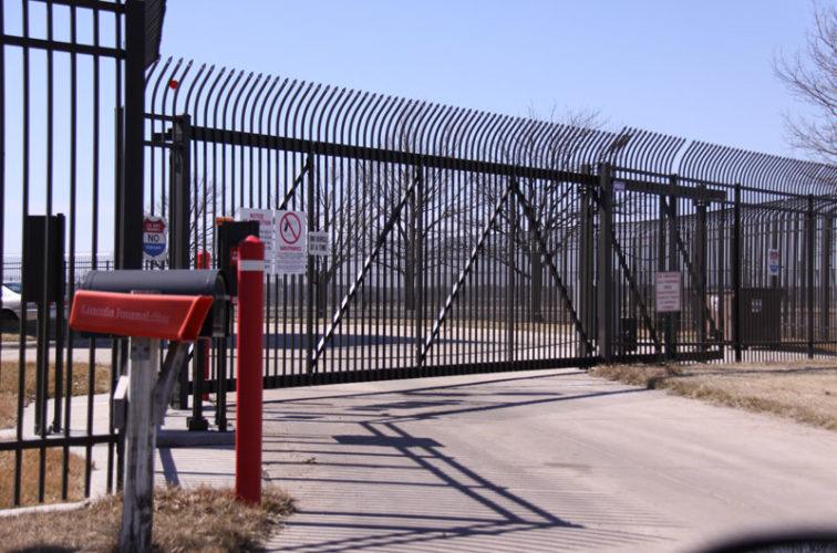 AFC Iowa City - Custom Gates, Ornamental Slide Gate with Radius Picket Accent