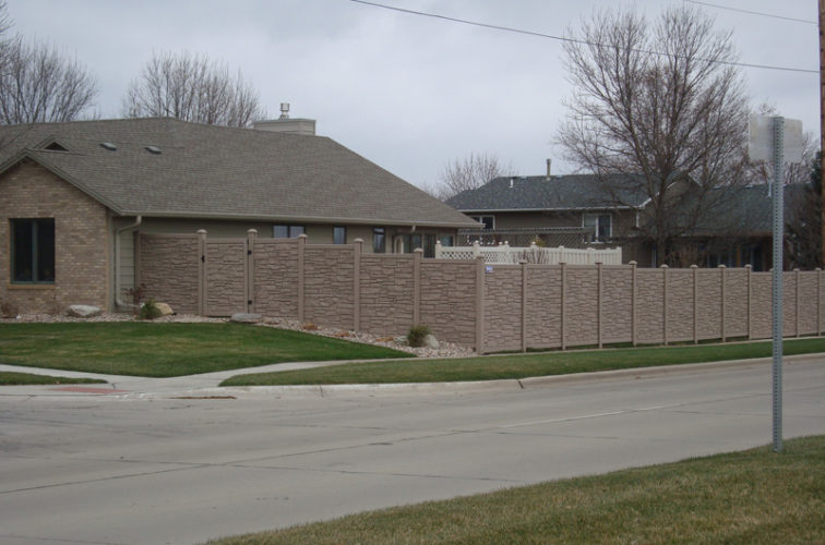 AFC Iowa City - Vinyl Fencing, Solid Privacy Stone Accent