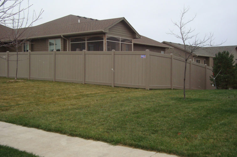 AFC Iowa City - Vinyl Fencing, Solid Privacy - Woodland Select