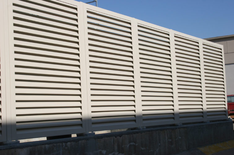 AFC Iowa City - Louvered Fence Systems Fencing, Steel Louvered Fence System