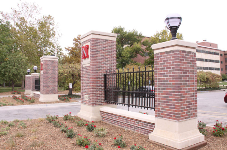 AFC Iowa City - Custom Iron Gate Fencing, University of Nebraska East Entrance