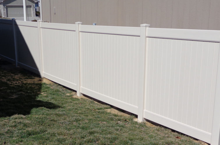 AFC Iowa City - Vinyl Fencing, 6' Tan Privacy - AFC-KC