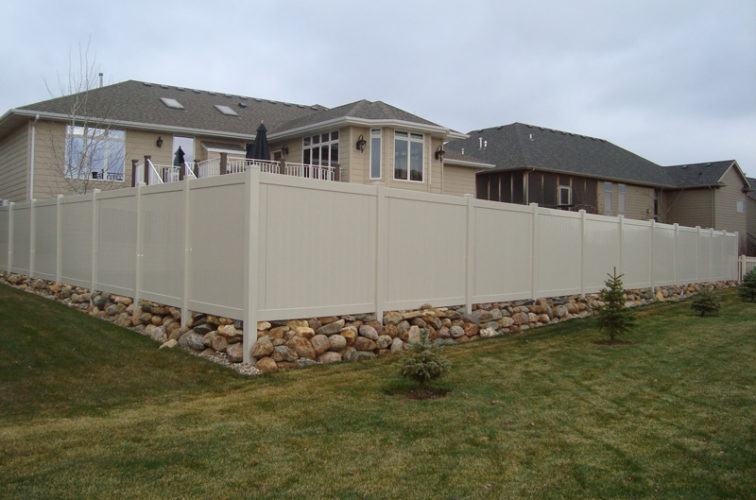 AFC Iowa City - Vinyl Fencing, Vinyl Sandstone Privacy AFC, SD