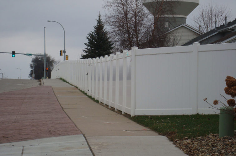 AFC Iowa City - Vinyl Fencing, White Vinyl Privacy AFC, SD