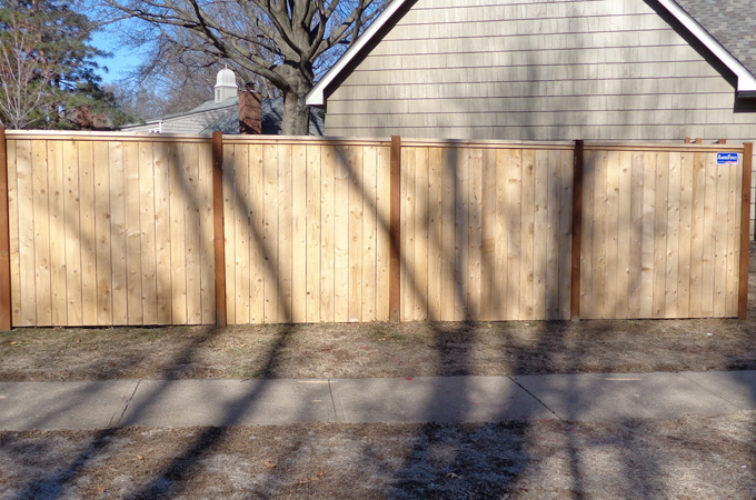 AFC Iowa City - Wood Fencing, 6' Privacy with Cap Board - AFC-KC