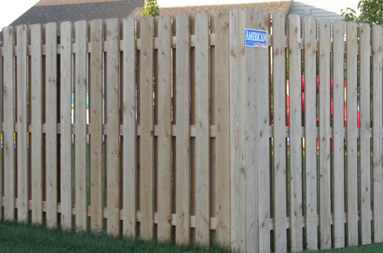 AFC Iowa City - Wood Fencing, Wood BOB Fence1