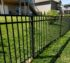 American Fence Company of Iowa City - Black Flat Top Residential Ornamental Iron Fence
