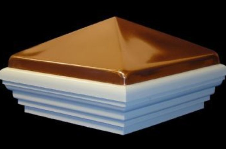 AFC Iowa City - Accessories, Classic Polished Copper PVC Vinyl Fence Post Caps