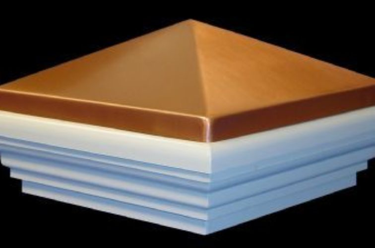 AFC Iowa City - Accessories, Copper Classic Style PVC Vinyl Fence Post Cap