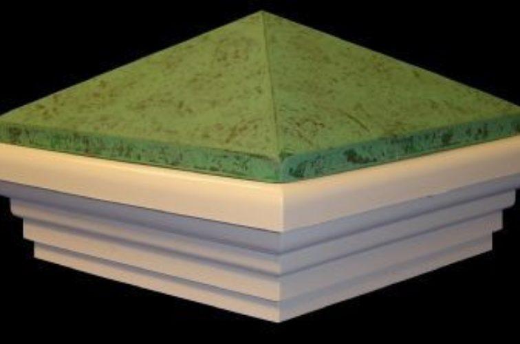 AFC Iowa City - Accessories, Green Patina PVC Vinyl Fence Post Caps